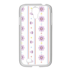Beans Flower Floral Purple Samsung Galaxy S4 I9500/ I9505 Case (white) by Alisyart