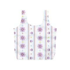 Beans Flower Floral Purple Full Print Recycle Bags (s)  by Alisyart