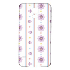 Beans Flower Floral Purple Samsung Galaxy S5 Back Case (white) by Alisyart