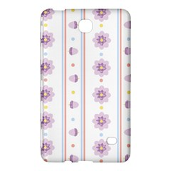 Beans Flower Floral Purple Samsung Galaxy Tab 4 (7 ) Hardshell Case  by Alisyart