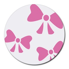 Bow Ties Pink Round Mousepads by Alisyart