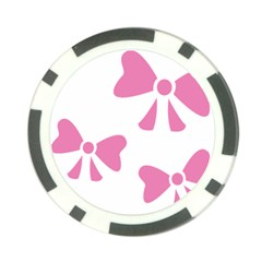 Bow Ties Pink Poker Chip Card Guard (10 Pack) by Alisyart