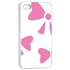 Bow Ties Pink Apple Iphone 4/4s Seamless Case (white) by Alisyart
