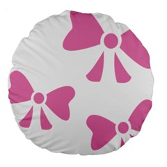 Bow Ties Pink Large 18  Premium Round Cushions by Alisyart