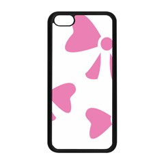 Bow Ties Pink Apple Iphone 5c Seamless Case (black) by Alisyart