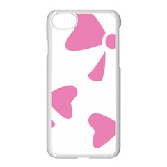 Bow Ties Pink Apple Iphone 7 Seamless Case (white) by Alisyart