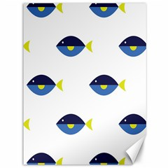 Blue Fish Swim Yellow Sea Beach Canvas 36  X 48   by Alisyart
