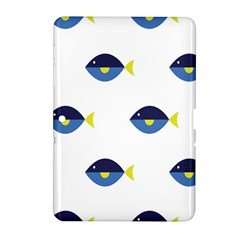Blue Fish Swim Yellow Sea Beach Samsung Galaxy Tab 2 (10 1 ) P5100 Hardshell Case  by Alisyart