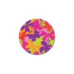 Butterfly Animals Rainbow Color Purple Pink Green Yellow Golf Ball Marker (4 Pack) by Alisyart