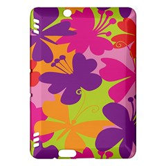 Butterfly Animals Rainbow Color Purple Pink Green Yellow Kindle Fire Hdx Hardshell Case by Alisyart