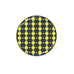 Blue Black Yellow Plaid Star Wave Chevron Hat Clip Ball Marker (10 Pack) by Alisyart