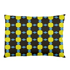 Blue Black Yellow Plaid Star Wave Chevron Pillow Case by Alisyart