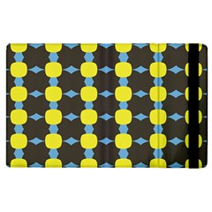 Blue Black Yellow Plaid Star Wave Chevron Apple Ipad 3/4 Flip Case by Alisyart