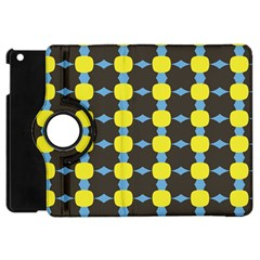 Blue Black Yellow Plaid Star Wave Chevron Apple Ipad Mini Flip 360 Case by Alisyart