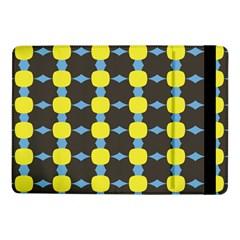 Blue Black Yellow Plaid Star Wave Chevron Samsung Galaxy Tab Pro 10 1  Flip Case by Alisyart