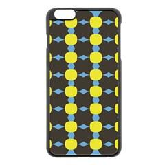 Blue Black Yellow Plaid Star Wave Chevron Apple Iphone 6 Plus/6s Plus Black Enamel Case by Alisyart