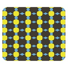 Blue Black Yellow Plaid Star Wave Chevron Double Sided Flano Blanket (small)  by Alisyart