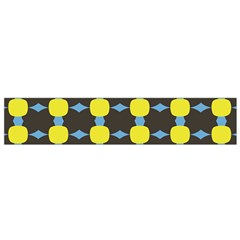 Blue Black Yellow Plaid Star Wave Chevron Flano Scarf (small) by Alisyart