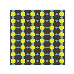 Blue Black Yellow Plaid Star Wave Chevron Small Satin Scarf (square) by Alisyart