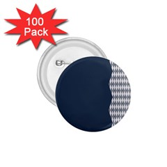 Argyle Triangle Plaid Blue Grey 1 75  Buttons (100 Pack)  by Alisyart