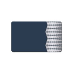 Argyle Triangle Plaid Blue Grey Magnet (name Card) by Alisyart
