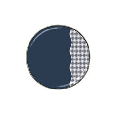 Argyle Triangle Plaid Blue Grey Hat Clip Ball Marker (4 Pack) by Alisyart