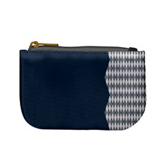Argyle Triangle Plaid Blue Grey Mini Coin Purses by Alisyart