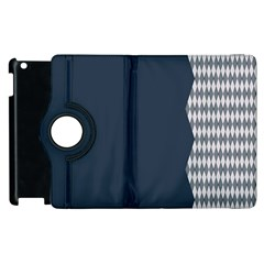 Argyle Triangle Plaid Blue Grey Apple Ipad 2 Flip 360 Case by Alisyart