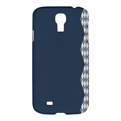 Argyle Triangle Plaid Blue Grey Samsung Galaxy S4 I9500/i9505 Hardshell Case by Alisyart