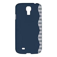 Argyle Triangle Plaid Blue Grey Samsung Galaxy S4 I9500/i9505 Hardshell Case by Alisyart