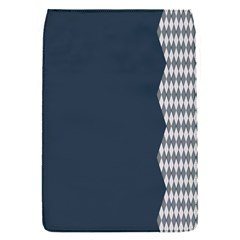 Argyle Triangle Plaid Blue Grey Flap Covers (s)  by Alisyart