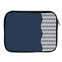 Argyle Triangle Plaid Blue Grey Apple Ipad 2/3/4 Zipper Cases by Alisyart