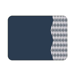 Argyle Triangle Plaid Blue Grey Double Sided Flano Blanket (mini)  by Alisyart