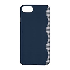 Argyle Triangle Plaid Blue Grey Apple Iphone 7 Hardshell Case by Alisyart