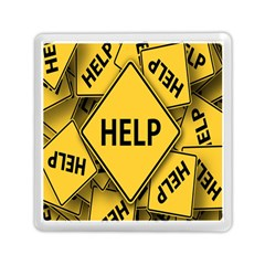 Caution Road Sign Help Cross Yellow Memory Card Reader (square)  by Alisyart