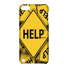 Caution Road Sign Help Cross Yellow Apple Ipod Touch 5 Hardshell Case With Stand by Alisyart