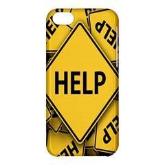 Caution Road Sign Help Cross Yellow Apple Iphone 5c Hardshell Case by Alisyart