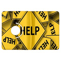 Caution Road Sign Help Cross Yellow Kindle Fire Hdx Flip 360 Case by Alisyart