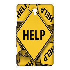 Caution Road Sign Help Cross Yellow Samsung Galaxy Tab S (8 4 ) Hardshell Case  by Alisyart