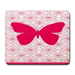 Butterfly Animals Pink Plaid Triangle Circle Flower Large Mousepads by Alisyart