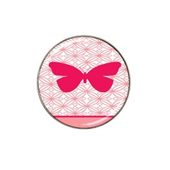 Butterfly Animals Pink Plaid Triangle Circle Flower Hat Clip Ball Marker (10 Pack) by Alisyart