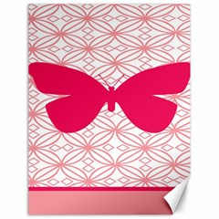 Butterfly Animals Pink Plaid Triangle Circle Flower Canvas 18  X 24   by Alisyart