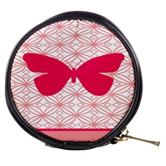 Butterfly Animals Pink Plaid Triangle Circle Flower Mini Makeup Bags by Alisyart