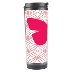 Butterfly Animals Pink Plaid Triangle Circle Flower Travel Tumbler