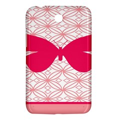 Butterfly Animals Pink Plaid Triangle Circle Flower Samsung Galaxy Tab 3 (7 ) P3200 Hardshell Case  by Alisyart