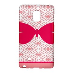 Butterfly Animals Pink Plaid Triangle Circle Flower Galaxy Note Edge by Alisyart
