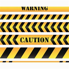 Caution Road Sign Warning Cross Danger Yellow Chevron Line Black Canvas 16  X 20   by Alisyart