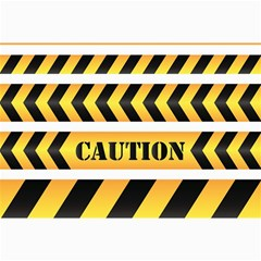 Caution Road Sign Warning Cross Danger Yellow Chevron Line Black Canvas 20  X 30   by Alisyart