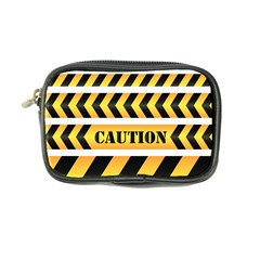 Caution Road Sign Warning Cross Danger Yellow Chevron Line Black Coin Purse by Alisyart