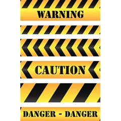 Caution Road Sign Warning Cross Danger Yellow Chevron Line Black 5 5  X 8 5  Notebooks by Alisyart
